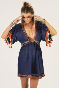 Lost Canyons Dress by All that Remains Via The Freedom State. Love the pom pom detail!