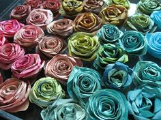 paper roses from coffee filters, easy tutorial....so fun!