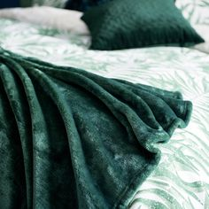 Style up your sofa with our green velvet-effect cushion and throw! Aw18 Trends, New Home Essentials, Green Velvet, Cushion, New Homes, Sofa, Style, Swag, Settee