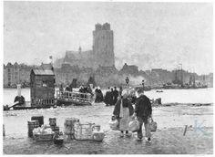 Hans Herrmann (1858-1942) Blik op de haven van Dordrecht, ca. 1890 Leo Spik 1966-04-01, 51, T.73 #ZuidHolland #Dordrecht Holland, Dutch, Explore, Pictures, Painting, Image, Photos, Nostalgia, Novelty Signs