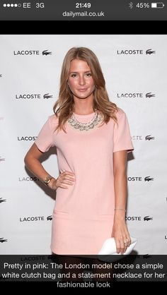 Adoreeee this chic, ultra feminine pocketed shift dress #milliemac #pastels