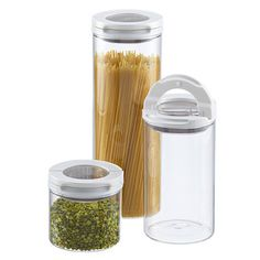 Set of OXO FlipLock Glass Canisters