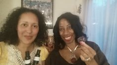 """Dr. Monica with Maxine Haber, handcrafting custom beauty & wellness blends with essential oils & herbs! The BEST Times In Life Are Shared With Friends! """"Healthy IS The New Sexxxy"""""""
