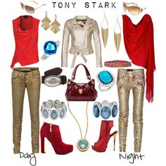 Outfit inspired by Avengers character Tony Stark/Iron Man