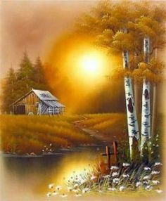 1 million+ Stunning Free Images to Use Anywhere Landscape Drawings, Landscape Art, Landscape Paintings, Summer Painting, Autumn Painting, Beautiful Paintings, Beautiful Landscapes, Kinkade Paintings, Bob Ross Paintings