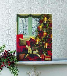 Lighted Snowing Christmas Eve #Christmas #gifts #handmade