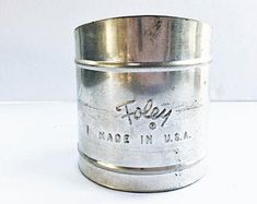 Vintage Foley Sifter With Squeeze Handle Smaller Two Cup Size Perfect for Small Baking Projects Made in USA Or Antique, Kitchen Utensils, Vintage Kitchen, I Shop, Handle, Pottery, This Or That Questions, Antiques, Glass