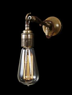 Vintage wall light - cable, Vintage wall light - Holloways of Ludlow