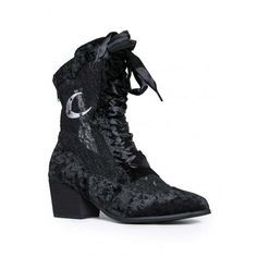 YRU Dame (£100) via Polyvore featuring shoes, boots, ankle booties, gothic boots, goth boots, ankle bootie boots, short boots and bootie boots