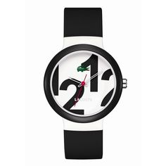 Lacoste Watch, Goa Black Silicone Strap 2020012 found on Polyvore