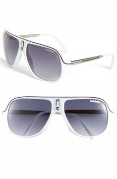 Óculos Carrera Eyewear Men's Safarrs Aviator Sunglasses White #Oculos #Carrera