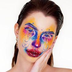 Sisters Are Taking Makeup To The Next Level And Here Are Their 30 Mind-Blowing Transformations Eye Makeup Art, Clown Makeup, Sfx Makeup, Cosplay Makeup, Halloween Makeup, Face Off Makeup, Angel Makeup, Face Paint Makeup, Makeup Brush