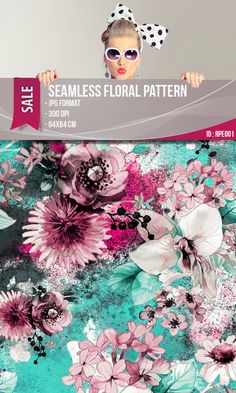 Seamless Floral Pattern. by RIZAPEKER on Etsy / #dijital #seamless #floral #pattern #fashion #etsy #rizapeker