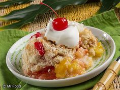 Tropical Fruit Dump Cake | mrfood.com