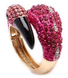 """Have you stopped by GLAMROYALESHOP.COM to see our weekly new arrivals?? Check out this """"FLAMINGO HINGE"""" Bracelet only $25.00!!"""