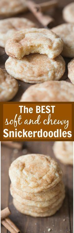 The BEST soft and chewy Snickerdoodles! These get RAVE reviews every time I make…