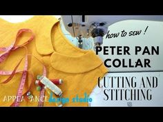 how to sew peter pan collar cutting and stitching easy length length- In front of '' inch one side ===========================. Sewing Blouses, Sewing Shirts, Peter Pan Collar Dress, Peter Pan Collars, Techniques Couture, Sewing Techniques, Golas Peter Pan, Jouer Au Poker, Blouse Tutorial
