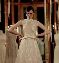 Image of V Back Lace Wedding Dress