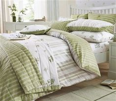 BEDROOM - Buy 2 Pack Green Floral Sprig Bed Set from the Next UK online shop