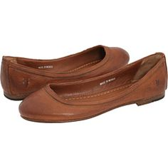 Frye Carson Ballet Cognac Leather - Zappos.com Free Shipping BOTH Ways