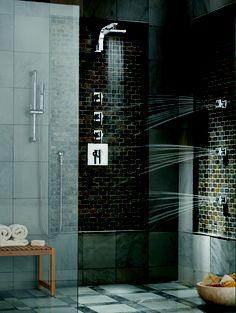 Imagine relaxing in a Sirius Custom Shower from Danze.com