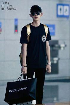 140713- EXO Park Chanyeol; Taipei to Incheon Airport #exok #mens #fashion