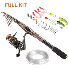 "Telescopic Fishing Rod with Reel Combo Sea Saltwater Freshwater Kit Fishing Rod Kit. The ""2 count"" is generate automatically by amazon which stands for 1 FISHING ROD+1 FISHING REEL. Warm Prompt:we provide 2 kinds combos and just choose what you need from ""select"" section."