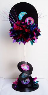 Motown/Rock n Roll Tall Real Records Table Centerpiece Real records rock n roll centerpiece – Designs by Ginny More from my Party Props Party Props Party Props Photo 1 of Sock Hop Theme diner / Birthday Sock Hop Diner 50s Theme Parties, 80s Birthday Parties, 80s Theme, Deco Disco, Motown Party, Sock Hop Party, Retro Party, Fifties Party, 1950s Party