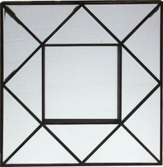 SAVANNAH MIRROR - 750mm square - bevelled panels with timber trim, RRP $199