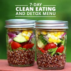 Clean Eating Diet Clean Eating and Detox Menu - This week's meal plan just got easier! No need to drink only juice when you can eat recipes made with whole foods and clean ingredients. Get started on a new healthier lifestyle. Whole Foods, Whole Food Recipes, Detox Recipes, Clean Eating Recipes, Detox Foods, Clean Foods, Salad Recipes, Healthy Snacks, Healthy Recipes