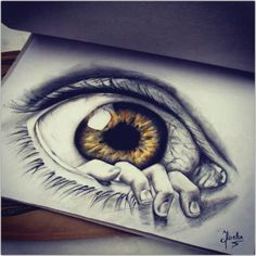 """The Eye"" Pencil Drawing by Oana Miclea Beautiful Piece of work. Amazing Drawings, Cool Drawings, Amazing Art, Awesome, Pencil Art, Pencil Drawings, Photo Oeil, Realistic Eye Drawing, Drawn Art"