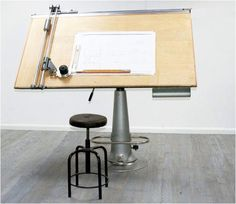 Architectural Drawing Board architects drawing board c.1930 (bleached oak) | interior design