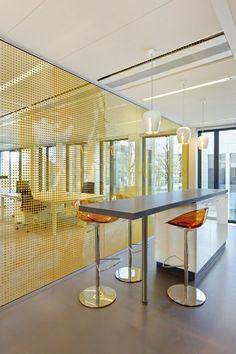 FrieslandCampina Amersfoort - Fokkema & Partners Architecten www. Creative Office Space, Office Space Design, Modern Office Design, Office Interior Design, Office Interiors, Contemporary Office, Corporate Office Design, Office Branding, Interior Windows