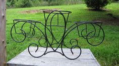 Vintage 3 Tier Wrought Iron Plant Stand, Wrought Iron Patio Plant ...