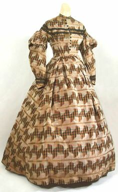 Silk Ikat dress, ca. 1855. Ikat is a dyeing technique that makes the pattern in fabric. Photo by Mary D. Doering.