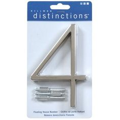 The Hillman Group 843 5-in Ribbon Elevated-Mount House Number - Lowes