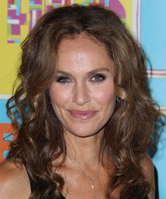 View yourself with this Amy Brenneman Long Curly Chocolate Brunette Hairstyle Casual Hairstyles, Hairstyles For School, Curly Hairstyles, Chocolate Brunette Hair, Amy Brenneman, Dark Blonde Hair Color, Hair Density, Short Curly Hair, Textured Hair
