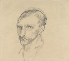 Vincent van Gogh: Self Portrait, Drawing, Pencil. Paris: Fall, 1886 Van Gogh Museum ~ One of two known self-portrait drawings. Van Gogh Portraits, Van Gogh Self Portrait, Self Portrait Drawing, Drawing Portraits, Portrait Paintings, Rembrandt, Vincent Van Gogh, Van Gogh Drawings, Van Gogh Paintings