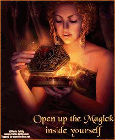 Open up the Magick inside of yourself.  Artist-Marta Dahlig
