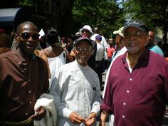 A Great Day on The Upper West Side of Manhattan, the re-naming of West 77th Street in honor of The Great Sir. Miles Dewey Davis III attending the event: Three Legends ....GEORGE CABLES,JIMMY HEATH AND JIMMY COBB