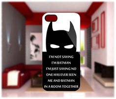Batman Quotes Case For IPhone 5, IPhone 4/4S, Samsung Galaxy S2, Samsung Galaxy S3 Hard Case