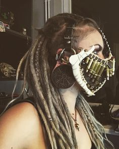 """7,957 Likes, 53 Comments - kat van hell (@kat_van_hell) on Instagram: """"Mask base for my new character. #justwastelandthings #wasted #wasteland #apocalypse #headtattoo…"""""""