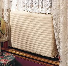 "Indoor Air Conditioner Cover Large - 18-20/""H X 26-28/""W X 2/""D Beige"