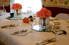 Pink flower center pieces