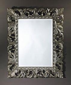 Sculpture Silver Decorative Framed Bevelled Wall Mirror by Deknudt Mirrors - Free UK delivery on orders over at Mirror Shop. Silver Wall Mirror, Ornate Mirror, Spiegel Design, Mirror Shop, Bathroom Wall Decor, Pottery Barn, Frame, Artwork, Prints