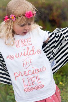 One Wild & Precious Life Kids Tee by PrintedPalette on Etsy, $24.00