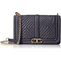 Rebecca Minkoff Geo Quilted Love Cross-Body Shoulder Bag (20335 RSD) ❤ liked on Polyvore featuring bags, handbags, shoulder bags, blue purse, rebecca minkoff handbags, quilted purses, blue crossbody and blue handbags