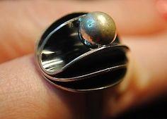 Erik Granit, vintage sterling silver ring with pearl. | eBay.com #Finland