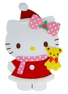 Hello kitty wooden arch lights and 20 melodies christmas greeting hello kitty fluffy santa claus christmas greeting card christmas card sanrio http m4hsunfo
