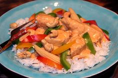 kyckling_red_curry_thai Spicy Thai, Thai Red Curry, A Food, Chicken Recipes, Dessert, Meat, Muffins, Drinks, Cooking Food
